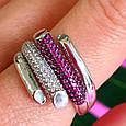 Брендовое серебряное кольцо - Стильное женское серебряное кольцо, фото 2