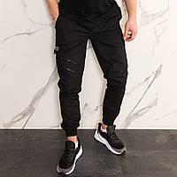 Штаны джоггеры карго мужские черные от бренда ТУР  модель Инк (Ink) размеры S,M,L,XL,XXL