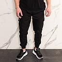 Штаны джоггеры карго мужские черные от бренда ТУР  модель Инк (Ink) размеры S,M,L,XL,XXL, фото 2