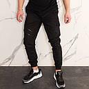 Штаны джоггеры карго мужские черные от бренда ТУР  модель Инк (Ink) размеры S,M,L,XL,XXL, фото 3