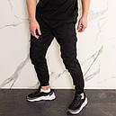 Штаны джоггеры карго мужские черные от бренда ТУР  модель Инк (Ink) размеры S,M,L,XL,XXL, фото 4