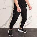 Штаны джоггеры карго мужские черные от бренда ТУР  модель Инк (Ink) размеры S,M,L,XL,XXL, фото 6