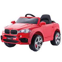 Детский электромобиль BMW T-7830 EVA колеса, красный