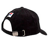 Мужская кепка Fila бейсболка черная Фила Турция 100% Хлопок Люкс Качество Модная Брендовая Красивая реплика, фото 2