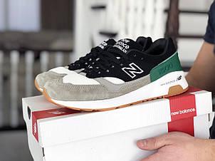 Мужские кроссовки New Balance 1500,черные с серым/зеленым, фото 2