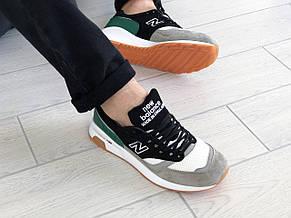Мужские кроссовки New Balance 1500,черные с серым/зеленым, фото 3