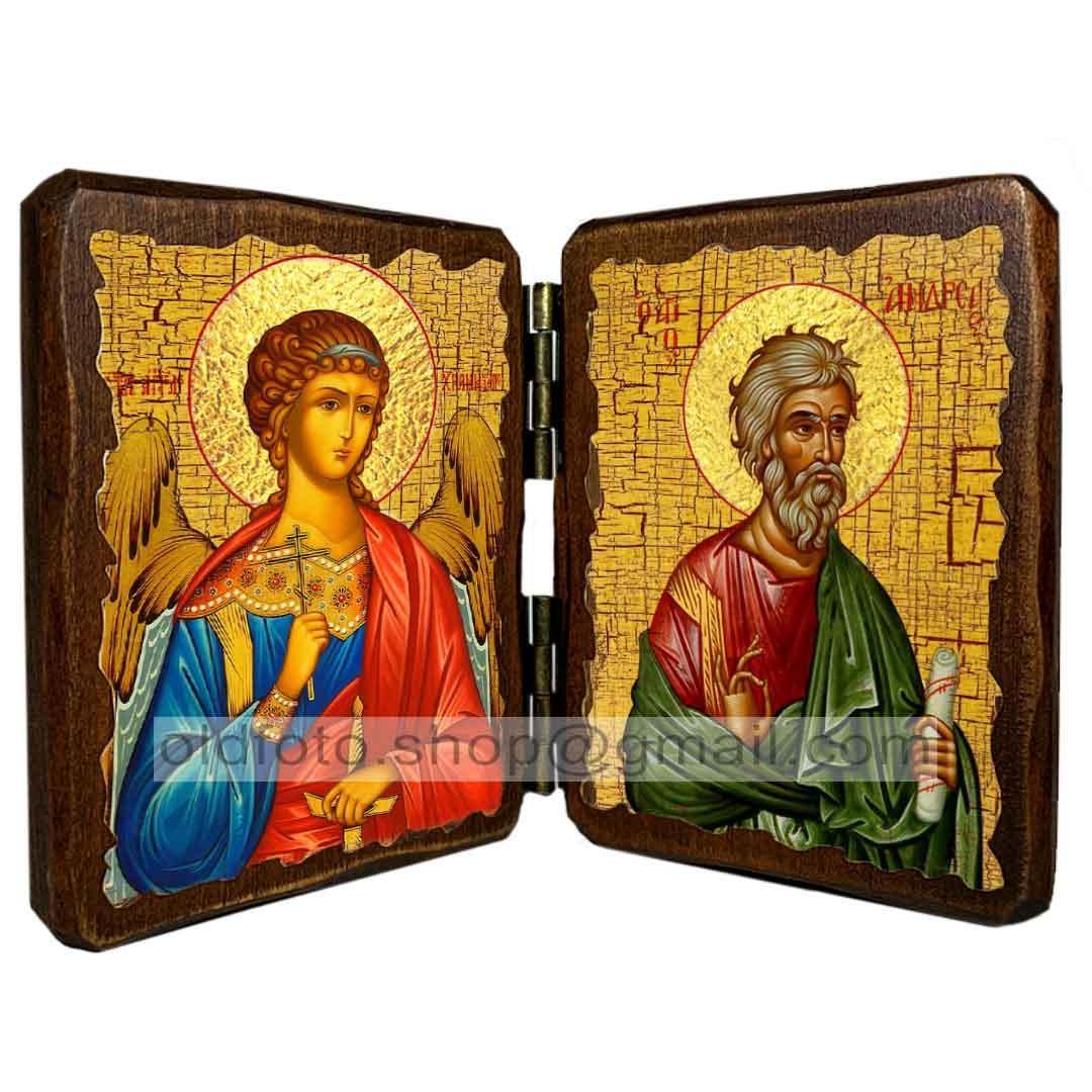 Икона Андрей Святой Апостол Первозванный  ,икона на дереве 260х170 мм