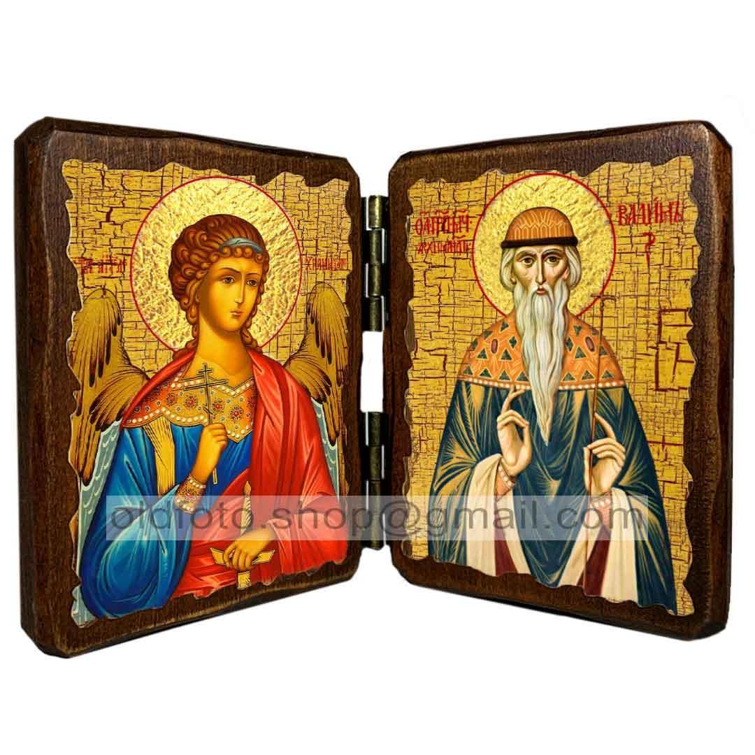 Икона Вадим Святой Мученик Персидский  ,икона на дереве 260х170 мм