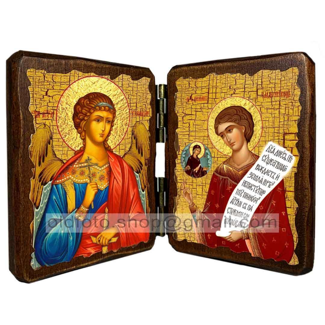 Икона Роман Святой Преподобный Сладкопевец  ,икона на дереве 260х170 мм