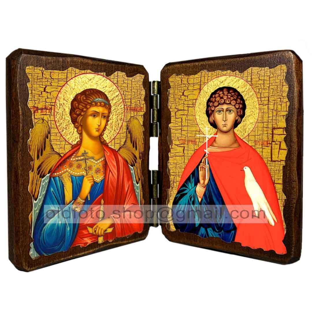 Икона Трифон Святой Мученик (складень двойной 140х100мм)
