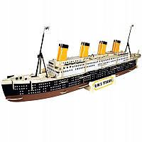 3D Деревянный конструктор. Модель корабль Титаник подарок для ребенка