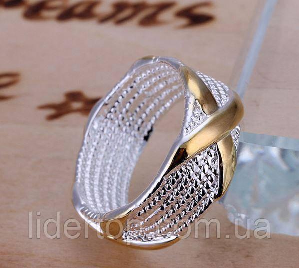 Кольцо Крестик 16, 17, 18,19 размер Стерлинговое Серебро 925 проба (Покрытие)