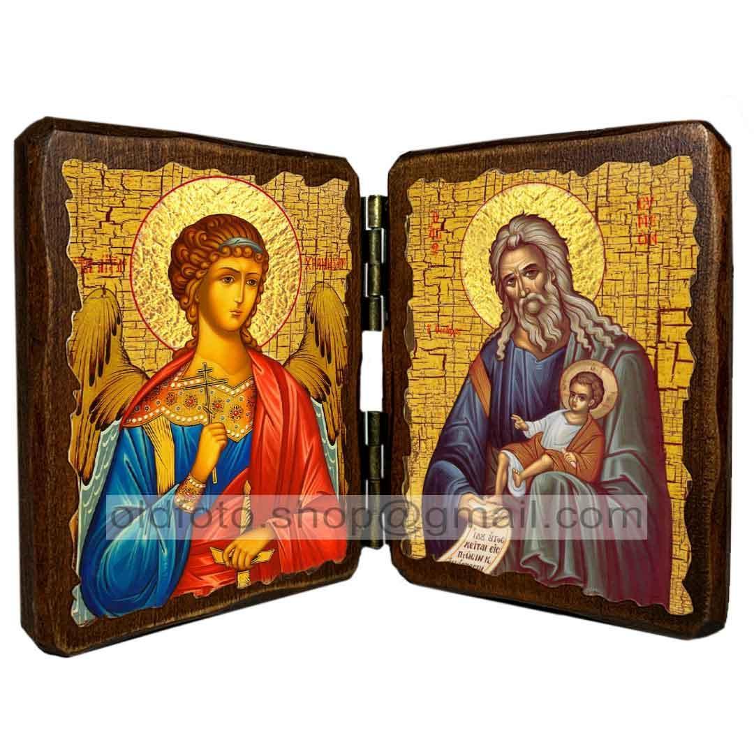 Ікона Симеон Богоприимец Святий Праведний (складень подвійний 260х170 мм)