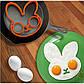 Силиконовая форма для приготовления яичницы Зайчик, фото 2