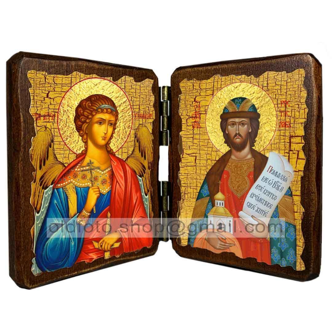 Икона Ростислав Святой Благоверный Князь  ,икона на дереве 260х170 мм