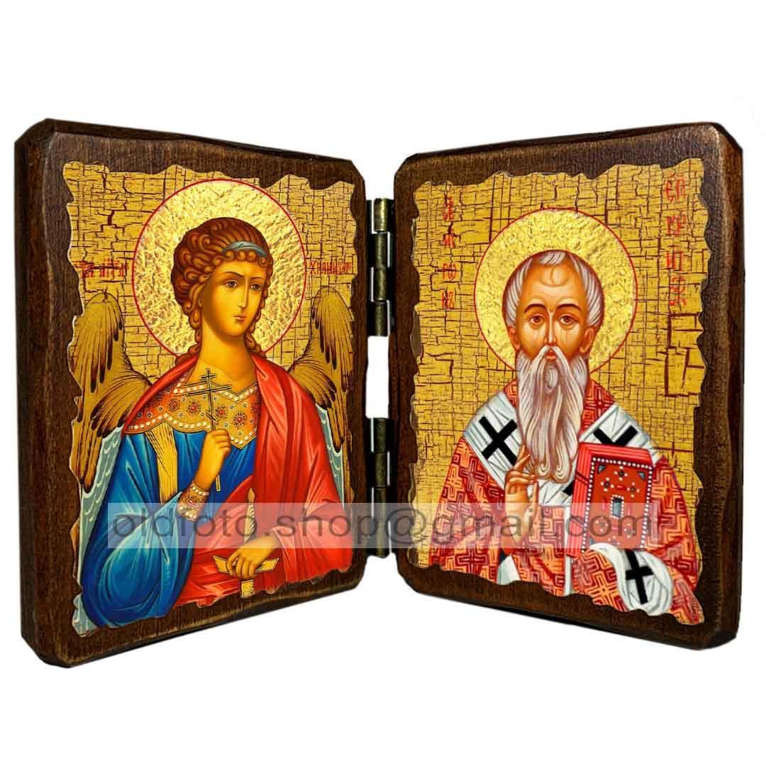 Икона Мирон Критский Святитель Епископ  ,икона на дереве 260х170 мм