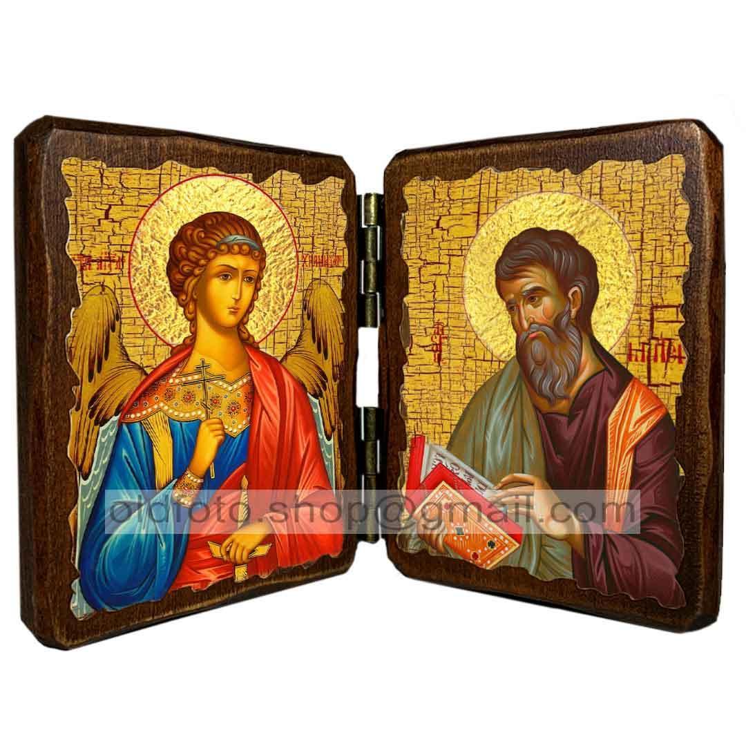 Икона Матфей Апостол Евангелист  ,икона на дереве 260х170 мм