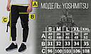 Карго штаны джоггеры со стропами и фастексом черные мужские от бренда ТУР Ёсимицу (Yoshimitsu), фото 4
