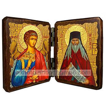 Икона Лев Оптинский Преподобный   ,икона на дереве 260х170 мм