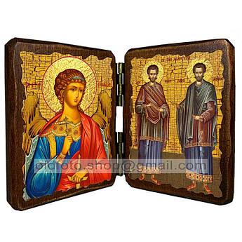 Икона Косма и Дамиан Святые Мученики  ,икона на дереве 260х170 мм
