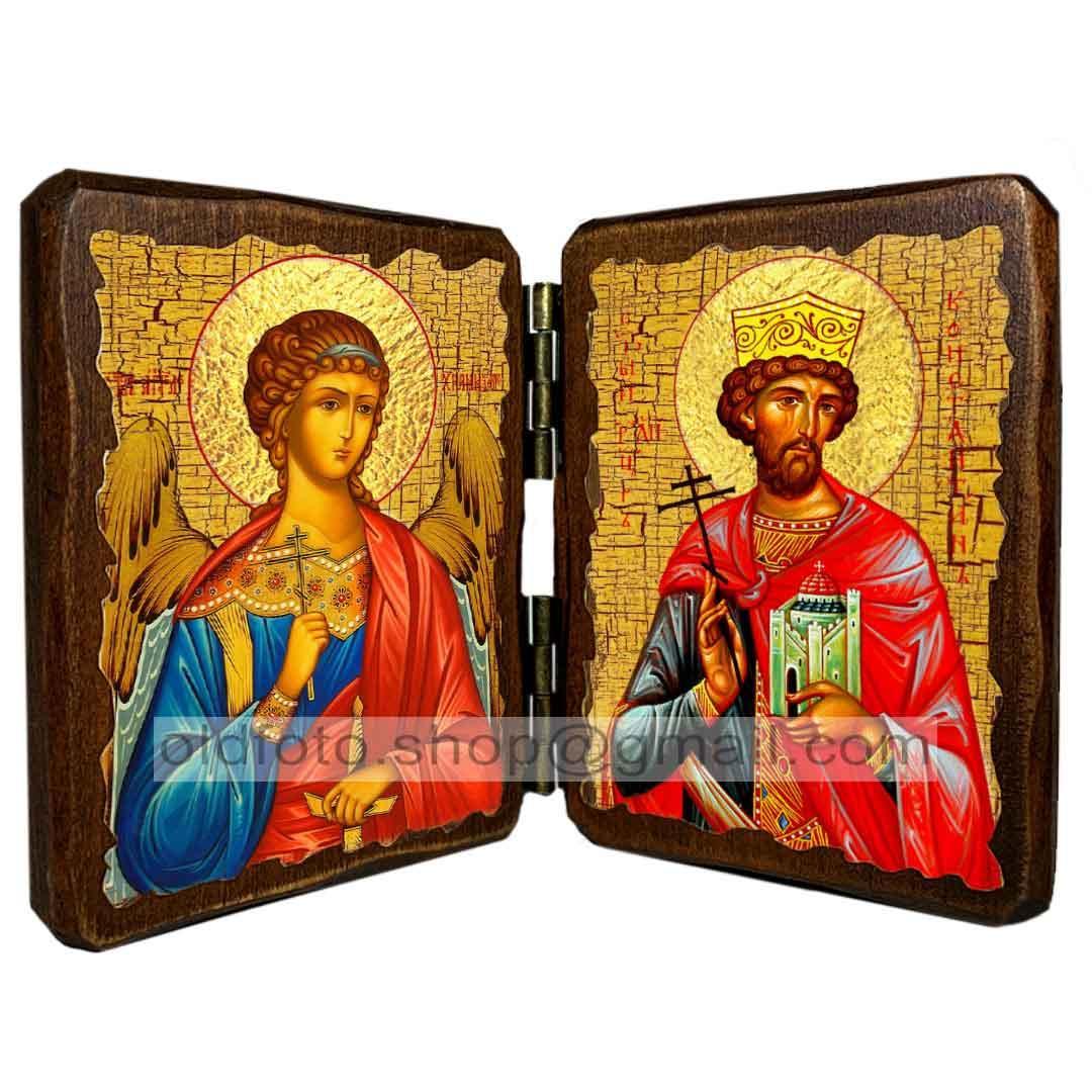 Ікона Костянтин Святий Рівноапостольний Князь (складень подвійний 260х170 мм)