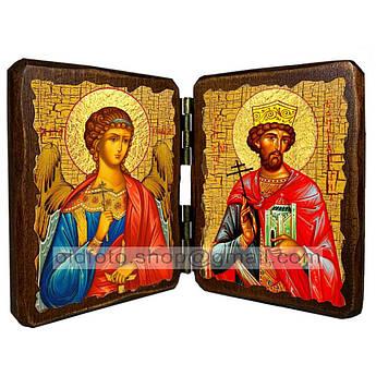 Икона Константин Святой Равноапостольный Князь  ,икона на дереве 260х170 мм