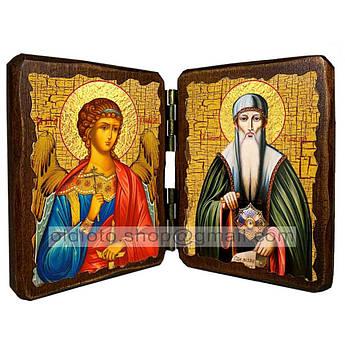 Икона Иоанн Рыльский Святой Преподобный   ,икона на дереве 260х170 мм