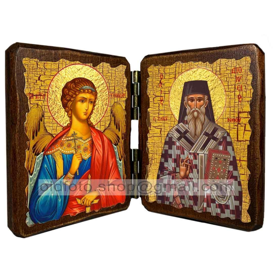 Икона Дионисий (Денис) Святой Закинфский (складень двойной 140х100мм)