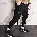 Карго штаны джоггеры со стропами и фастексом черные мужские от бренда ТУР Ёсимицу (Yoshimitsu), фото 3