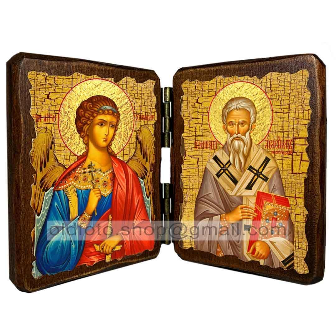 Икона Геннадий Святитель Новгородский (складень двойной 140х100мм)