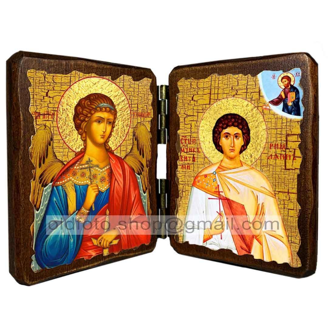 Ікона Віталій Святий Мученик Римлянин (складень подвійний 260х170 мм)