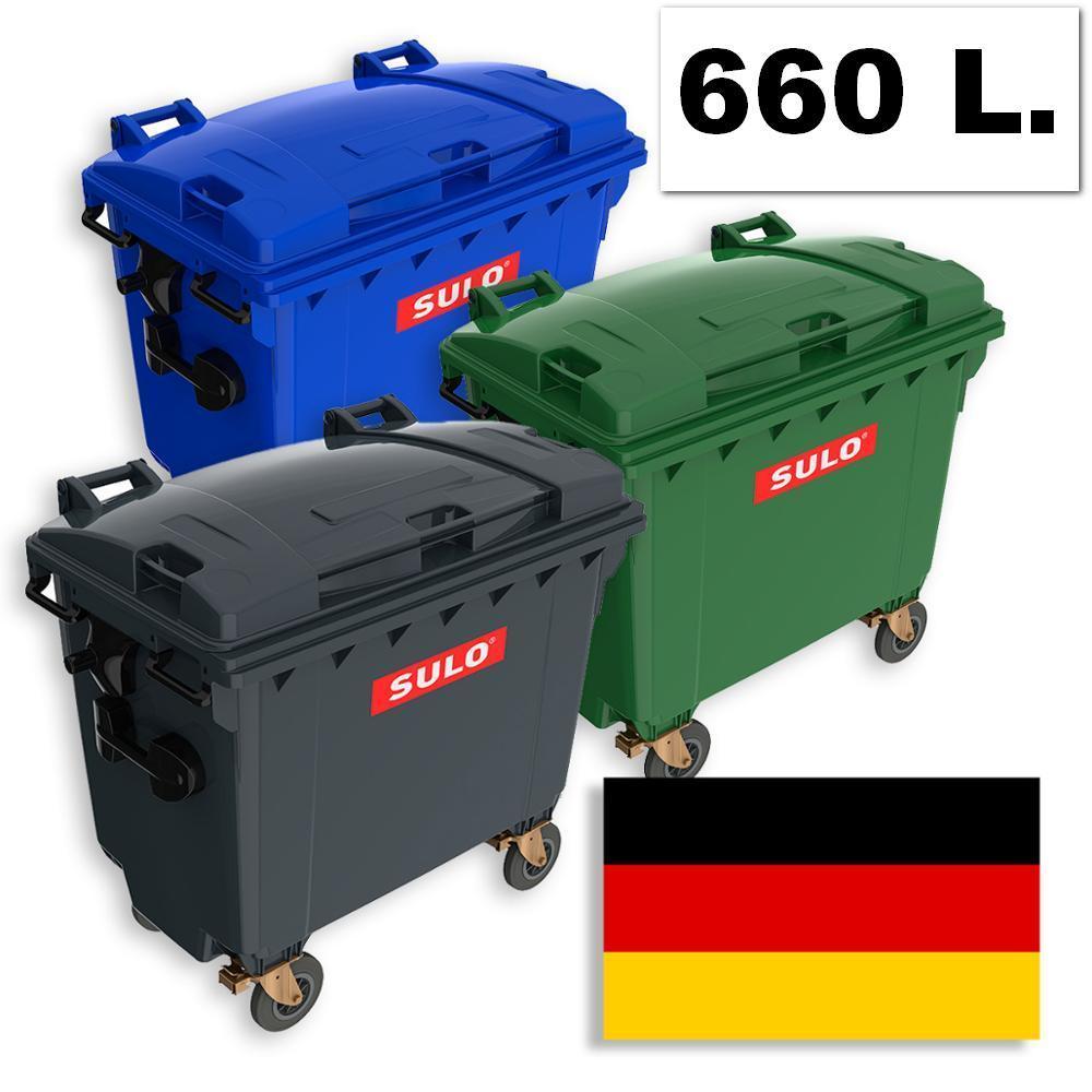 Б/У пластиковый контейнер для мусора 660 л.