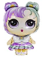 """Фольгированный шар """"Кукла L.O.L"""" Размер:79см*48см."""