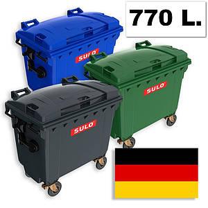 Б/У пластиковый контейнер для мусора 770 л.
