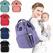Сумка рюкзак для мам Mummy Bag.  Удобная сумка органайзер. Сумка для сохранения тепла. Сумка рюкзак для мамы 3