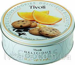 Печенье Tivoli Delicious с черным шоколадом и апельсином  Old Denmark  , 150 гр , ж\б