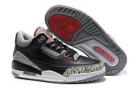 Баскетбольные кроссовки Nike Jordan 3 Retro black-grey, фото 1