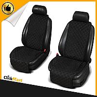 Накидки, чехлы на сидения автомобиля Алькантара стиль, Черные, Широкие