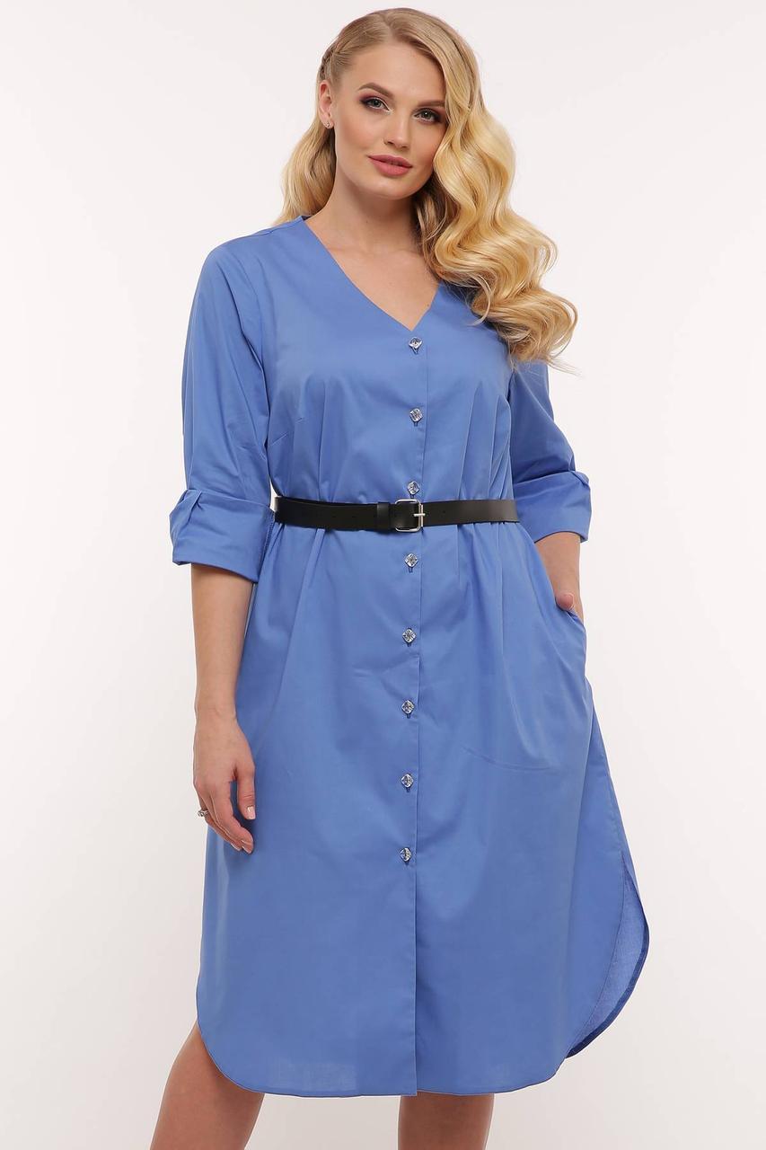 Платье рубашка коттон с 54 по 58 размер 2020