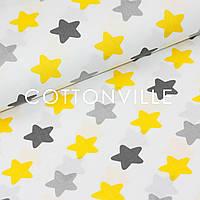 Хлопковая ткань Серо-желтые прянички, фото 1
