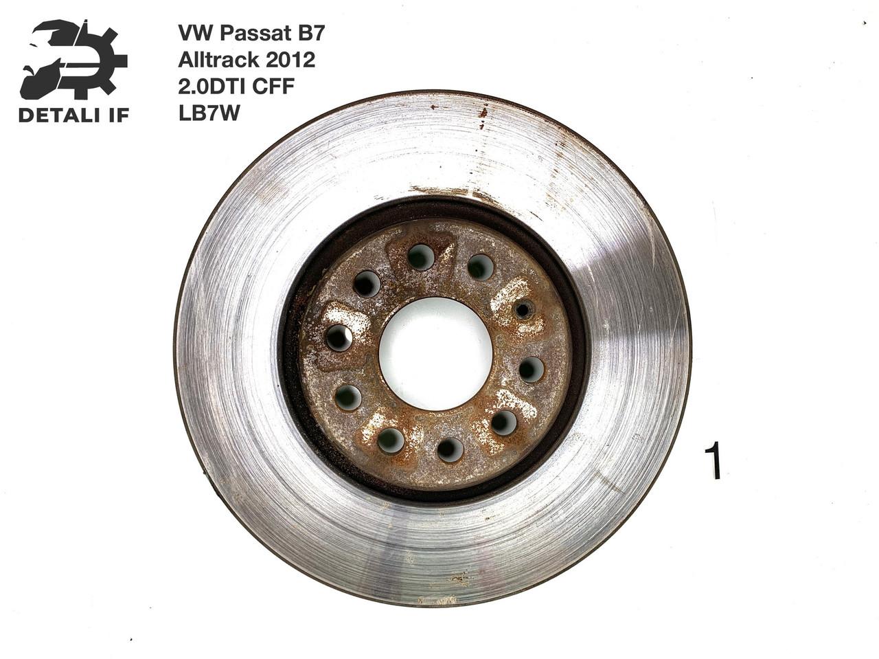 Тормозной диск передний №1 Passat B7 Alltrack 2.0DTI 1K0615301AA