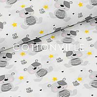 Поплин Мишки с желтыми звездочками, фото 1