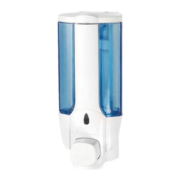 Дозатор для жидкого мыла настенный белый ZERIX LR406 (ZX2717)