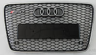 Решетка радиатора Audi Q7 4L (06-15) стиль RSQ7 (хром рамка)