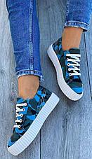 Кеди жіночі текстильні сині, фото 2