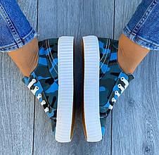Кеди жіночі текстильні сині, фото 3