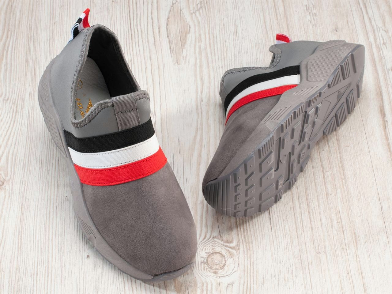 Жіночі кросівки сліпони сірі матові 36, 38, 40 розмір