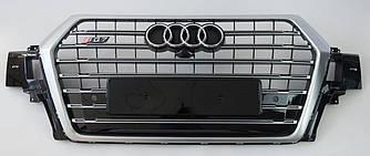 Решетка радиатора Audi Q7 4M (16-19) стиль SQ7