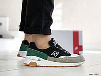 Мужские кроссовки  New Balance 1500 ( реплика) черно серо зеленые, фото 1