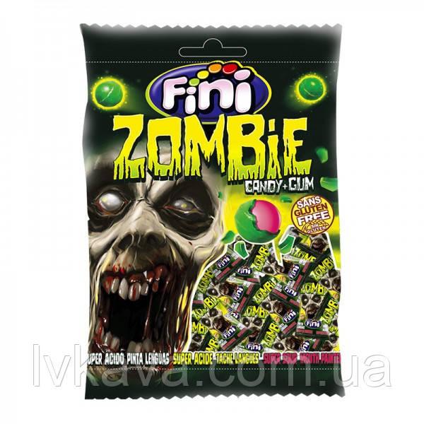 Леденцы FINI Zombie с жевательной резинкой , 80 гр